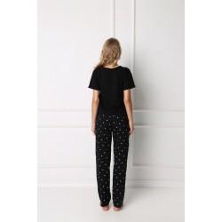 Дамска пижама в черен цвят Hearty
