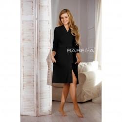 Черен дамски халат Bianca