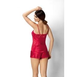 Червена сатенена пижама от две части Aisha 12