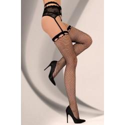 Дамски мрежести чорапи в черно Fenne