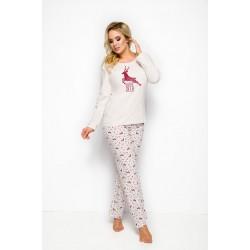 Памучна дамска пижама в големи размери