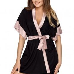 Черен дамски халат Sabrina