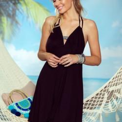 Черна плажна туника Jade