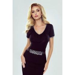Дамска блуза с къс ръкав в черно Evita