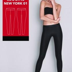 Дамски кожен клин в черно New York