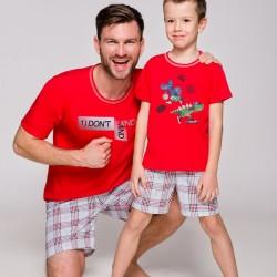 Мъжка пижама в червен цвят 2086