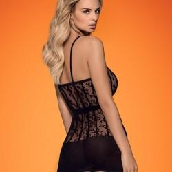 Черна еротична рокля D605
