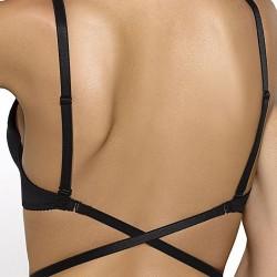 Черен сутиен със силиконов гръб ISMENA 02