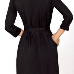 Черен дамски халат Bona