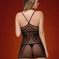 Черна еротична рокля D225