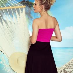 Плажна туника в черно и розово Sandy