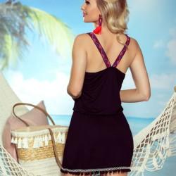 Черна плажна туника Jessica