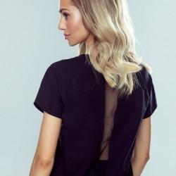 Черна дамска тениска Kika