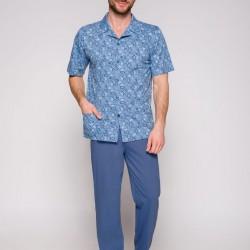 Синя мъжка памучна пижама 921