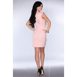 Елегантна къса рокля в розов цвят Kandajam