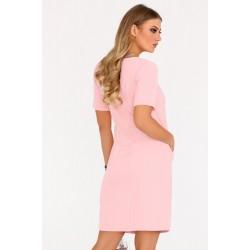 Ежедневна рокля Minar в цвят пудра