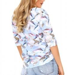 Дамска риза с 3/4 ръкав в синьо Kalena