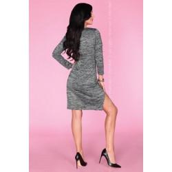 Ежедневна мини рокля в сив цвят Agnisam