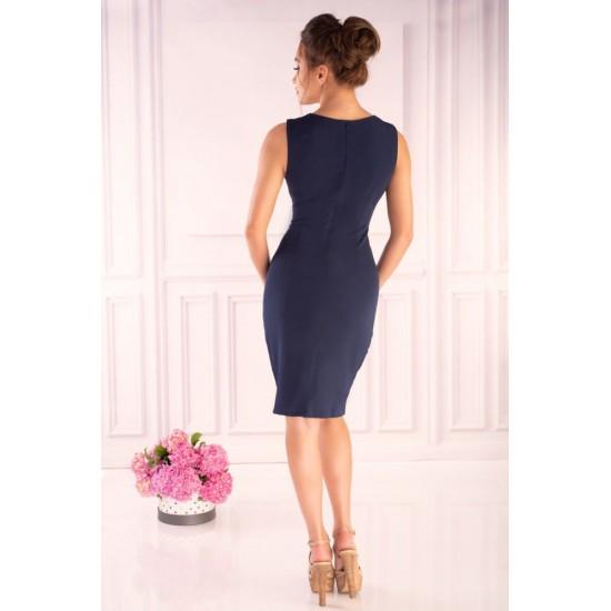Елегантна къса рокля в тъмносиньо Anamika