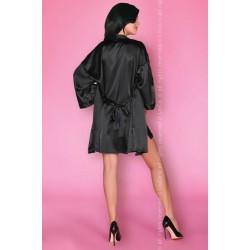 Луксозен сатенен халат в черно Dorettela
