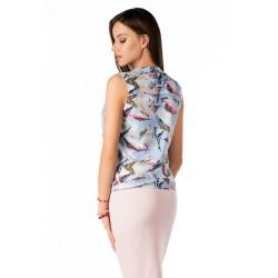 Елегантна блуза Pavlinna в светлосин цвят