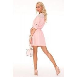 Ежедневна мини рокля в розово Amrosin