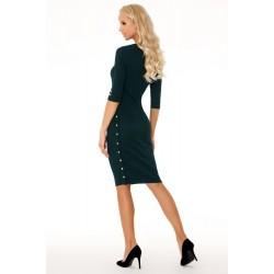 Елегантна миди рокля в тъмнозелено Aeroma