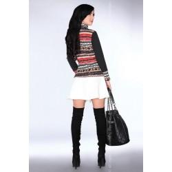 Дамски пуловер с висока яка CG013