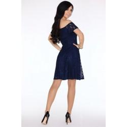 Елегантна миди рокля в синьо Damlana