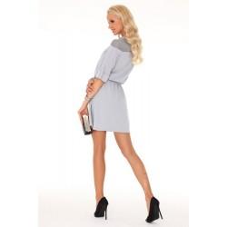 Ежедневна мини рокля в сиво Amrosin