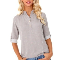 Дамска риза в сиво Verinn