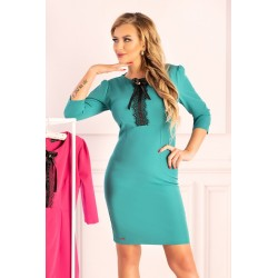 Къса рокля в цвят мента Madelion