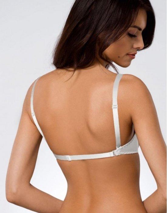 Сутиен със силиконов гръб в бяло 146/69, Ava, Повдигащи - Modavel.com