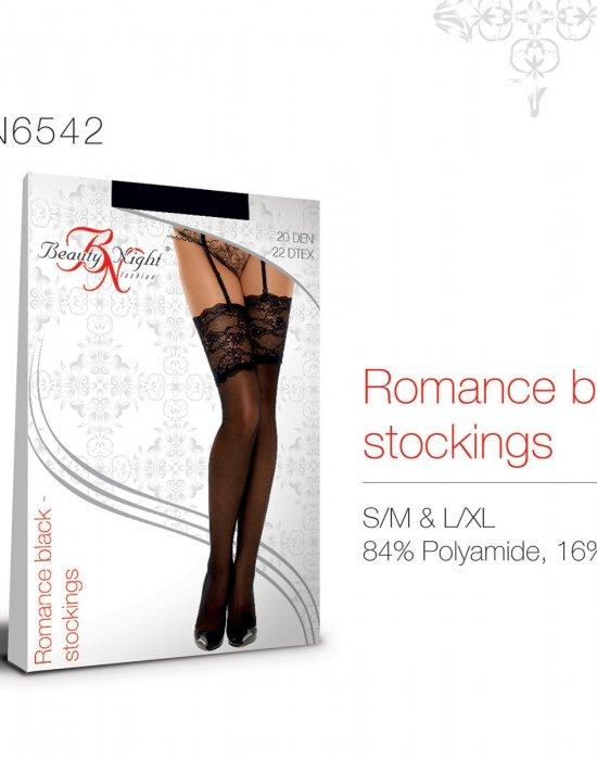 Фини черни 7/8 чорапи Romance black, Beauty Night Fashion, Чорапи - Modavel.com