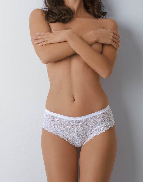 Дантелени бикини в бял цвят, Babell, Бикини - Modavel.com