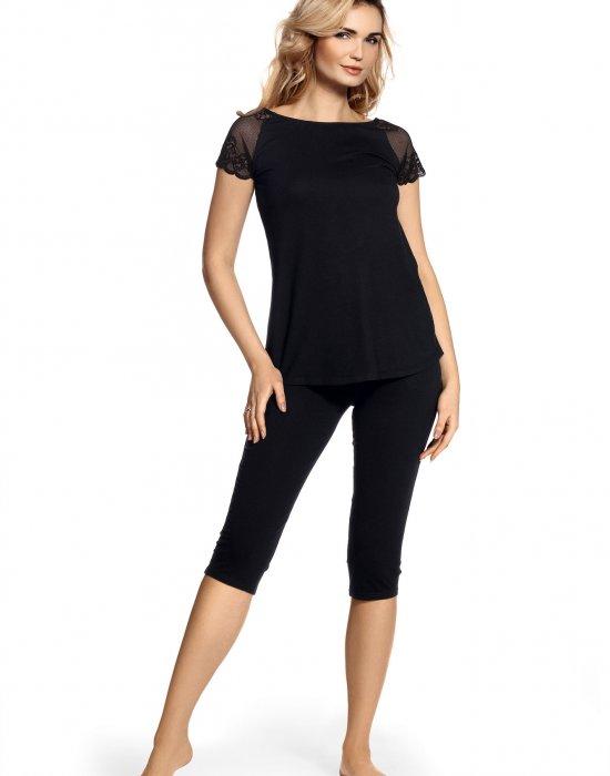 Черна пижама Estelle, De Lafense, Пижами - Modavel.com