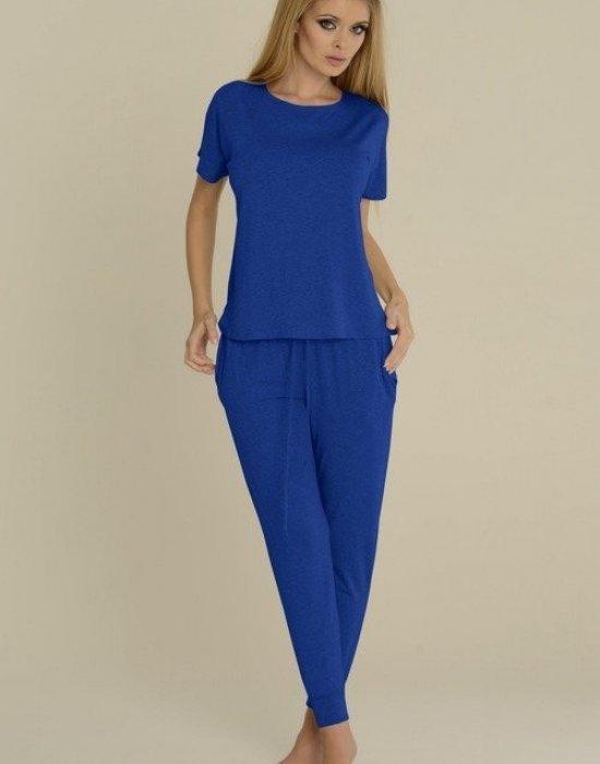 Дамска пижама в син цвят Paula 524, De Lafense, Пижами - Modavel.com