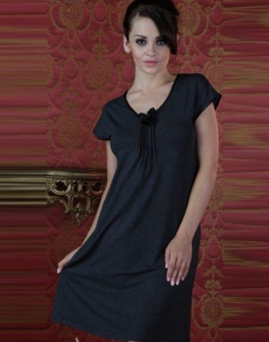 Къса нощница в черен цвят VISA 870, De Lafense, Нощници - Modavel.com
