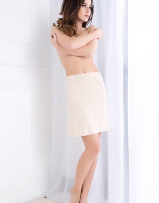 Безшевна пола в бежов цвят, Julimex, Поли - Modavel.com