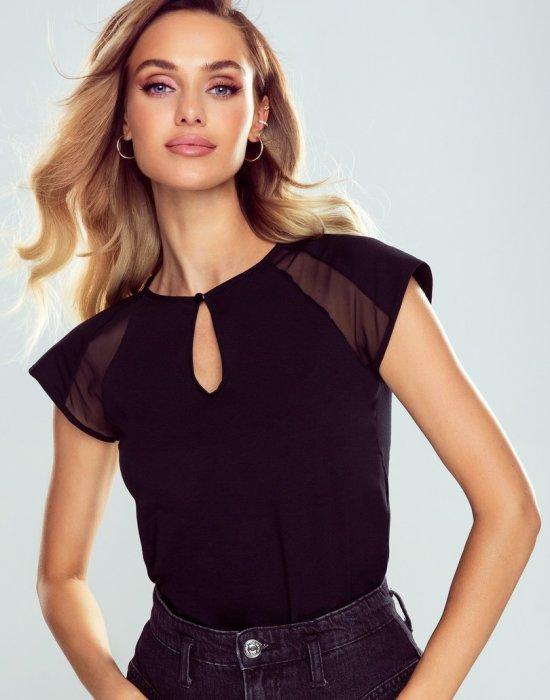 Черна дамска тениска Alina, Eldar, Блузи / Топове - Modavel.com
