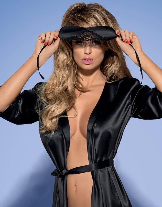 Черна еротична превръзка за очи SATIN, Obsessive, Еротични - Modavel.com