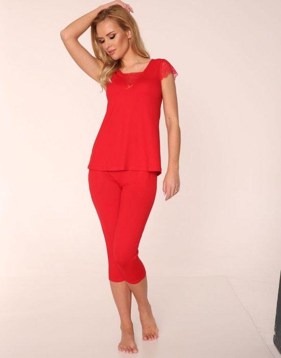 Червена пижама Fanny, De Lafense, Пижами - Modavel.com