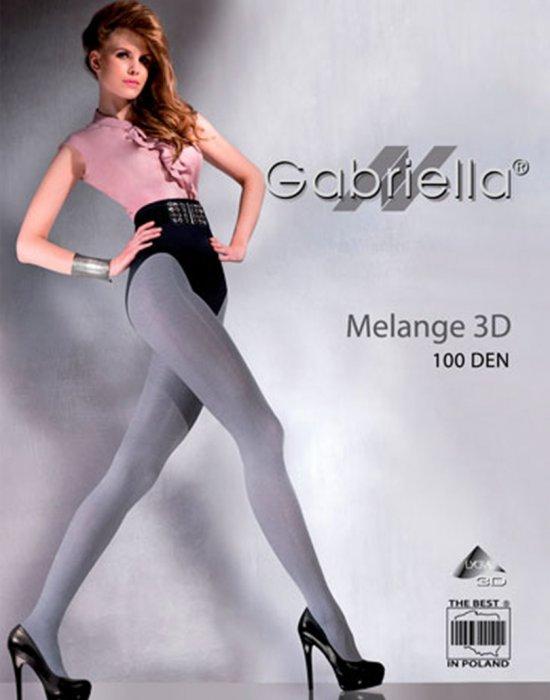 Чорапогащник Melange в цвят графит 100 DEN, Gabriella, Чорапогащи - Modavel.com