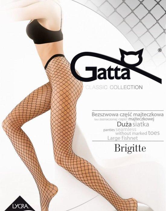 Чорапогащник на едра мрежа в черен цвят Brigitte Nero 05, Gatta, Чорапогащи - Modavel.com