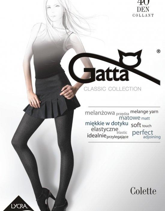 Чорапогащник в графитен цвят Colette1 Grafit 40 DEN, Gatta, Чорапогащи - Modavel.com