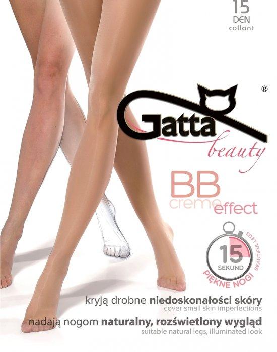 Чорапогащник в златист цвят с BB ефект Golden 15 DEN, Gatta, Чорапогащи - Modavel.com