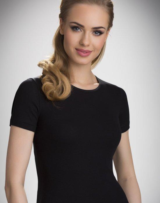 Дамска блуза с къс ръкав в черно Natasza, Eldar, Блузи / Топове - Modavel.com