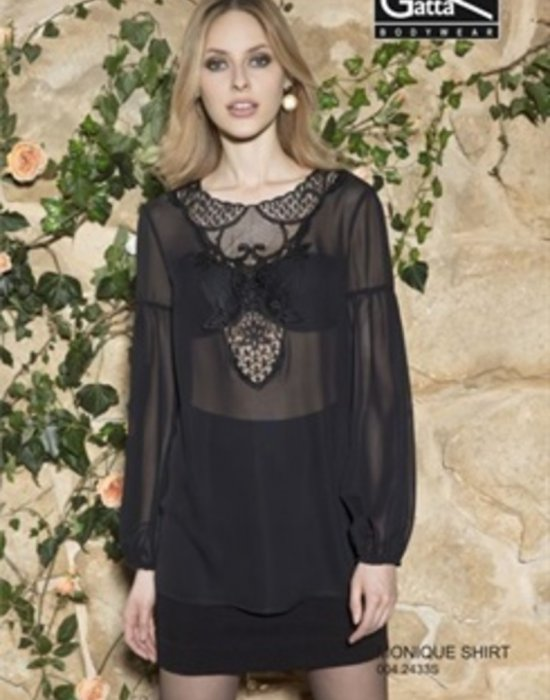 Дамска блуза в черен цвят Monique, Gatta Bodywear, Блузи / Топове - Modavel.com