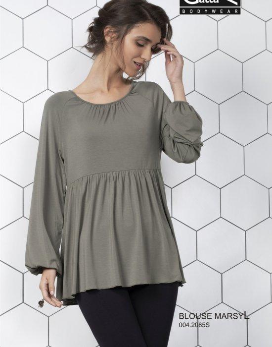 Дамска блуза в цвят каки Marsyl, Gatta Bodywear, Блузи / Топове - Modavel.com