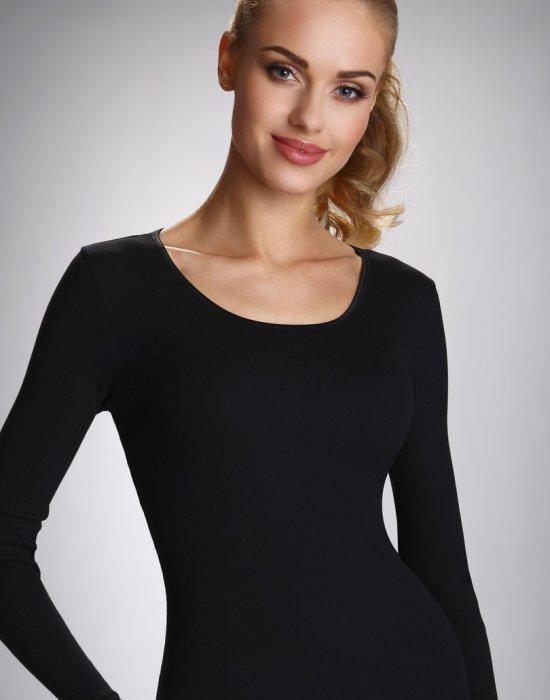 Дамска памучна блуза в черен цвят Irene, Eldar, Блузи / Топове - Modavel.com